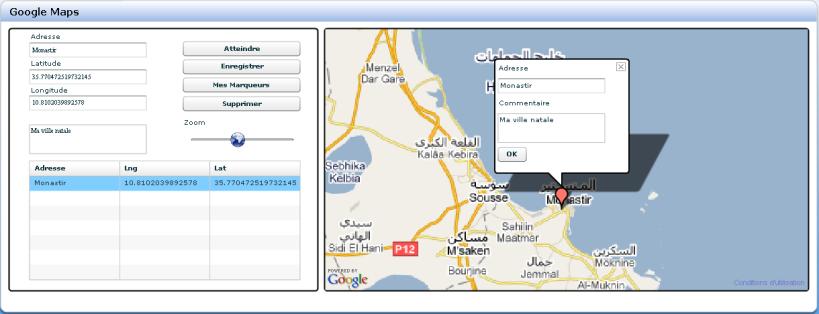Google Maps & JSP